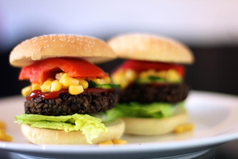 Første veggie burger = suksess